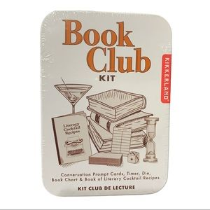 Book Club Cocktail Kit Social Drink Gathering Game